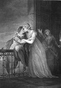 John Francis Rigaud (1742–1810): Romeo poistuu Julian luota (1797)